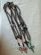 Shamballa Style Necklace with cross various colours